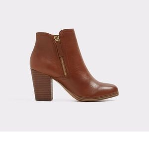 Aldo Leather Emely Boots Size US 6.5 in Cognac